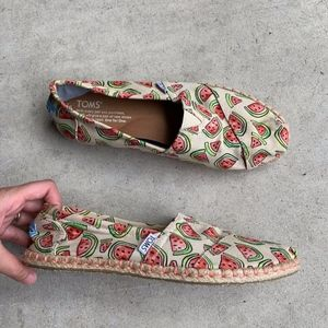 TOMS Watermelon Pattern Slip-on Flats Loafers